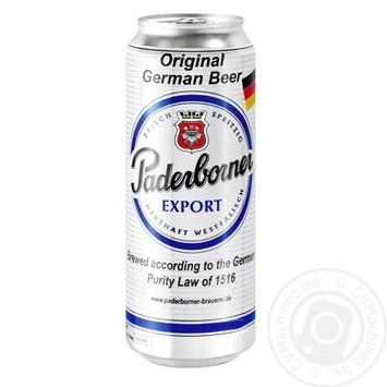 Пиво Paderborner Export светлое 5,5% 0,5л - купить, цены на Novus - фото 1