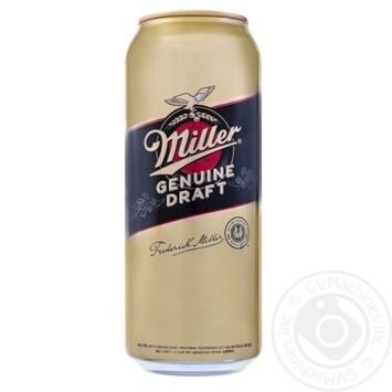 Miller Genuine Draft Light Beer can 4,7% 0,5l - buy, prices for Furshet - image 1