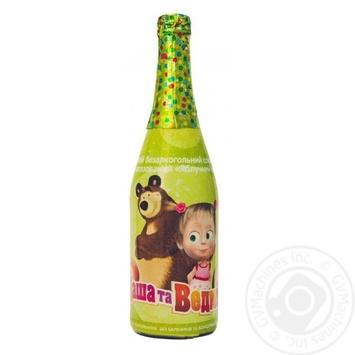 Напиток Маша и Медведь Яблочный каприз сильногазированный с соком 750мл