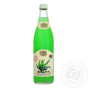 Напиток Эльбрус Тархун безалкогольный сильногазированный на натуральном вкусо-ароматическом растительном сырье стеклянная бутылка 500мл Украина - купить, цены на Фуршет - фото 1