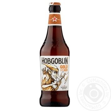 Пиво Wychwood Brewery Hobgoblin Gold Ale светлое 4,5% 0,5л - купить, цены на Novus - фото 1