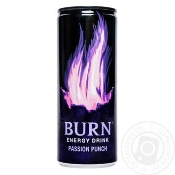 Напій енергетичний Burn Passion Punch безалкогольний 0,25л - купити, ціни на Ашан - фото 1