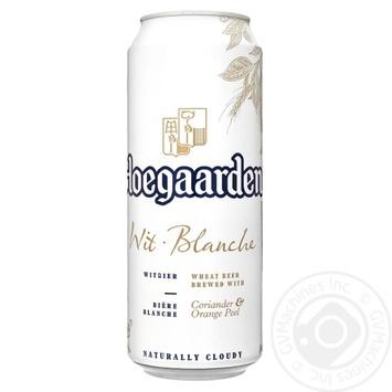 Пиво Hoegaarden светлое 4.9% 0,5л