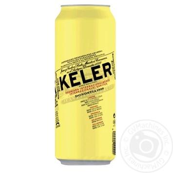 Keler Lager light beer can 5% 0,5l - buy, prices for MegaMarket - image 1