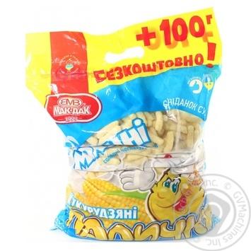 Палочки кукурузные Мак-даК Молочные сладкие неглазированные 500г - купить, цены на МегаМаркет - фото 1