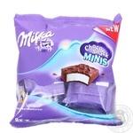 Пирожное Milka Choco Snack Minis бисквитное с кремом в молочном шоколаде 8х15г - купить, цены на Novus - фото 1