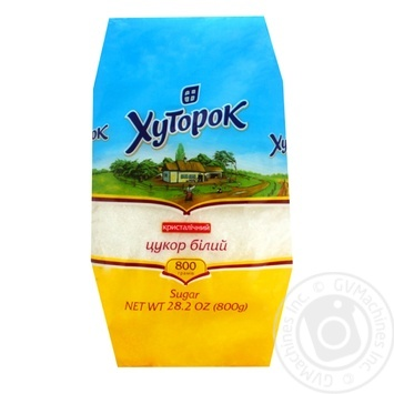 Khutorok White Crystalline Sugar 800g - buy, prices for Novus - image 1
