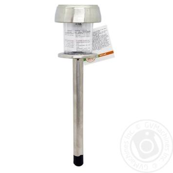 Ліхтар садовий,на сонячній батареї,2 LED лампи,теплий білий колір.Діаметр: 80мм,висота 370мм Koopman - купити, ціни на Novus - фото 1