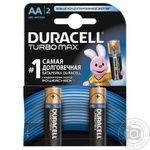 Элемент питания Duracell TurboMax АА 1,5V 2шт