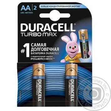 Элемент питания Duracell TurboMax АА 1,5V 2шт - купить, цены на Novus - фото 1