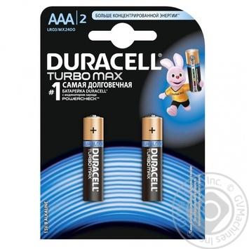 Батарейки Duracell Turbomax ААА 2шт - купити, ціни на Novus - фото 1