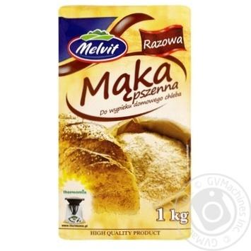 Мука пшеничная Melvit грубого помола 1кг