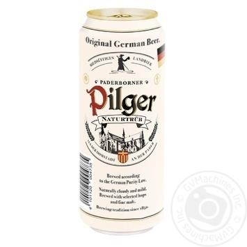Пиво Paderborner Pilger світле нефільтроване пастеризоване 5% 0,5л - купити, ціни на Метро - фото 1