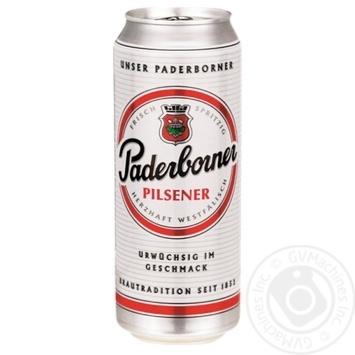 Пиво Paderborner Pilsener светлое 4,8% 0,5л