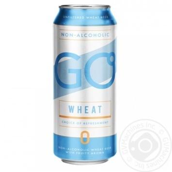Пиво Svyturys Go Wheat светлое нефильтрованное безалкогольное 0,5л - купить, цены на Novus - фото 1