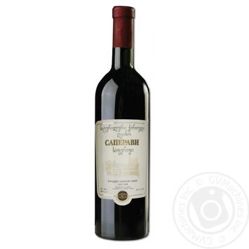 Вино Заря Кахетии Саперави красное сухое 11.5-13% 0.75л - купить, цены на СитиМаркет - фото 1