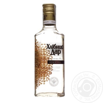 Hlibnyi Dar Classic Vodka 40% 0,18l - buy, prices for CityMarket - photo 1