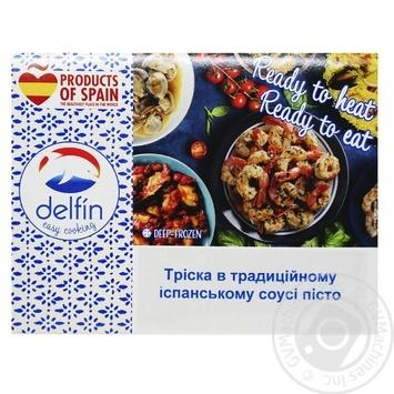 Тріска в традиційному іспанському соусі песто Delfin 300г - купити, ціни на Novus - фото 1