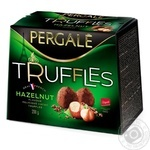 Цукерки Pergale Truffles Hazelnut 200г