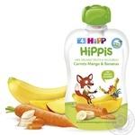 Пюре фруктовое HiPP Hippis морковь-манго-банан для детей с 4 месяцев 100г