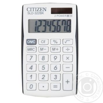 Калькулятор Citizen 8розр кишеньковий SLD-322BK - купити, ціни на Novus - фото 1