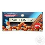 Шоколад молочный Millennium Golden Nut с цельными лесными орехами 90г
