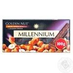 Шоколад черный Millennium Golden Nut с цельными лесными орехами 90г