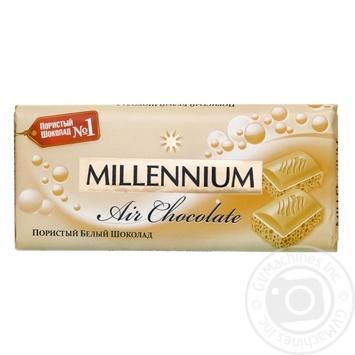 Шоколад Millenium Premium білий пористий 90г