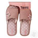 Взуття домашнє жіноче Twins HS-VL PINK STAR розмір 36-40
