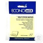 Стікер блок жовтий Economix Е20932 100шт/уп - купити, ціни на Метро - фото 1