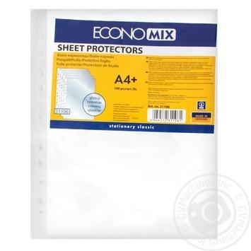 Файлы EconoMix А4+ 30мкм глянцевые 100шт - купить, цены на Метро - фото 1