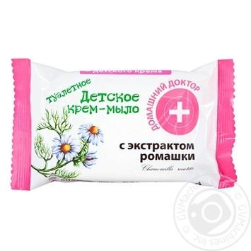 Крем-мыло Домашний Доктор детское с экстрактом ромашки 70г - купить, цены на ЕКО Маркет - фото 1