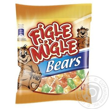 Конфеты жевательные Figle Migle Мишки 80г - купить, цены на УльтраМаркет - фото 1