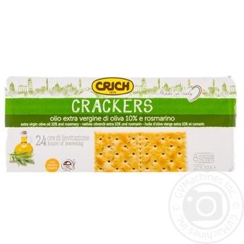 Крекер Crich с оливковым маслом и розмарином 250г - купить, цены на МегаМаркет - фото 1