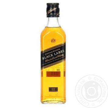 Виски Johnnie Walker Black Label 375мл - купить, цены на Novus - фото 1