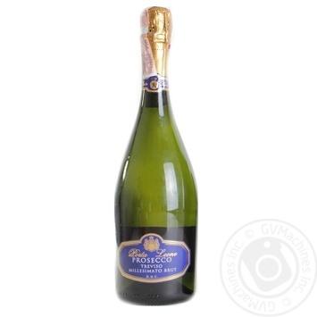 Вино ігристе Porta Leone Prosecco Millessimato Brut Trevicso DOC біле сухе 11% 0,75л - купити, ціни на Novus - фото 1