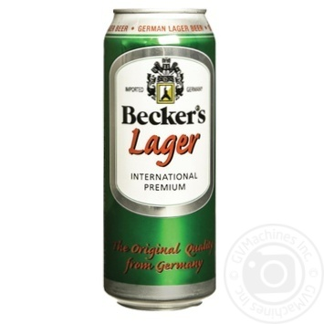 Beckers Lager light beer can 4,2% 0,5l - buy, prices for Novus - image 1
