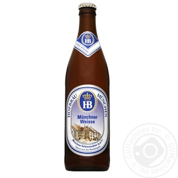 Пиво Хофброй Мунхен Вайс солодовое светлое 5.1%об. 500мл - купить, цены на Novus - фото 1