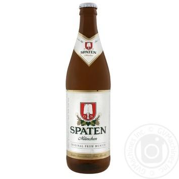 Пиво Spaten Munchen Hell светлое пастеризованное 5,2% 0,5л - купить, цены на Novus - фото 1