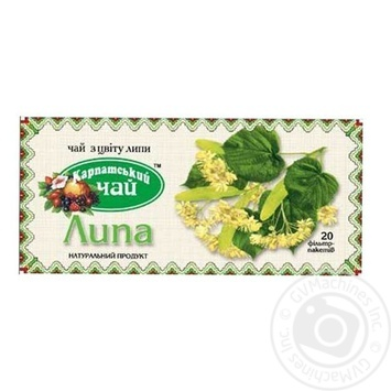 Травяной чай Карпатский Чай Липа в пакетиках 20х1.35г - купить, цены на Novus - фото 1