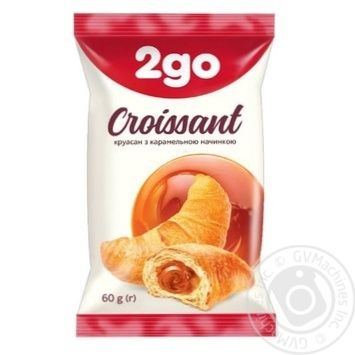 Круассан 2go карамельная начинка 60г - купить, цены на Фуршет - фото 1