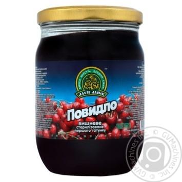 Повидло Дары ланов вишневое 630г - купить, цены на Novus - фото 1