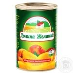 Персики Долина Бажань половинками в сиропі 850мл