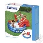 Басейн ігровий Вікінги Bestway з бризкалкою і гіркою 203*165*73см 243л