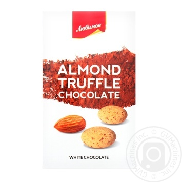 Dragee Lyubimov with almonds in white chocolate 100g packaged - buy, prices for MegaMarket - image 1