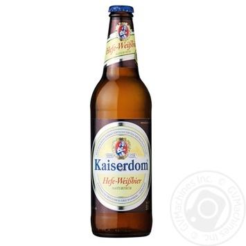 Пиво Kaiserdom Hefe-Weißbier светлое нефильтрованное 4,7 % 0,5л