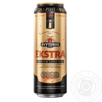 Пиво Svyturys Ekstra світле з/б 5,2% 0,568л - купити, ціни на Novus - фото 1