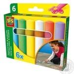 Набір крейд для асфальту Ses Creative Весела Палітра 6 кольорів