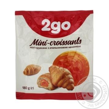 Круассаны 2go с апельсиновой начинкой мини 180г - купить, цены на Ашан - фото 1
