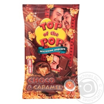 Top of Pop Caramel Flavor Popcorn for Microwave Oven 100g - buy, prices for Novus - image 1